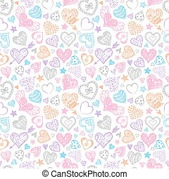 pattern with hearts.