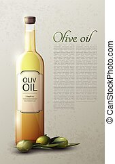 Natural Olive Oil Realistic Template