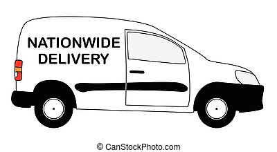 Small Nationwide Delivery Van - A small white nationwide...
