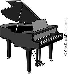 grand piano - a grand piano