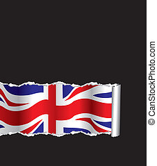 ripped paper - british flag with ripped paper