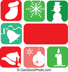 christmas elements christmas card template design-2 -...