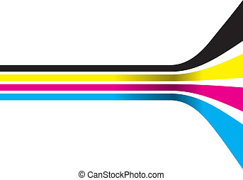 cmyk lines - abstract cymk lines