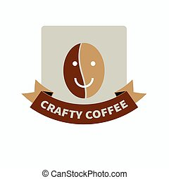 logo for coffee shop - Hipster brown logo for trendy coffee...