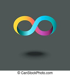 Infinity sign. Mobius strip. Gradient abstract modern...
