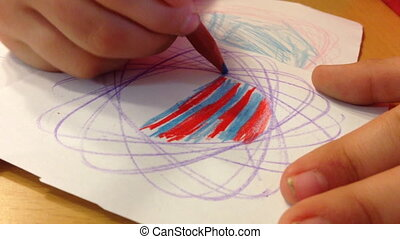 sketching with colored pencils - Shot of sketching with...