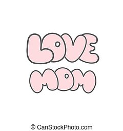 Mothers day cards vintage retro type font. Vector...