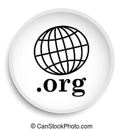 .org icon. .org website button on white background.