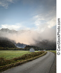 nebel - An image of a beautiful landscape with fog in...