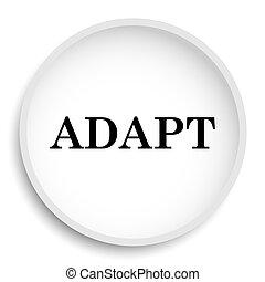 Adapt icon. Adapt website button on white background.