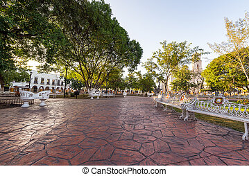 Main Plaza in Valladolid, Mexico