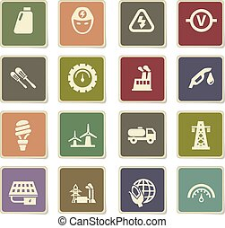 alternative energy icon set - alternative energy vector...