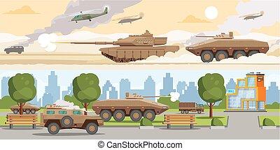 Military Equipment Horizontal Banners - Military equipment...