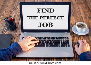 Find The Perfect Job Concept On Work Desk In Office