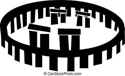 stonehenge vector icon , Stonehenge monument,