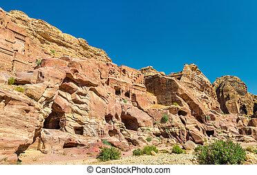 View of ancient ruins at Petra