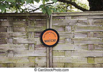 Neighbourhood watch sign - Orange neighbourhood sign...
