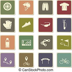bicycle icon set - bicycle vector icons for user interface...
