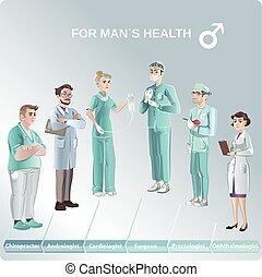 Cartoon Doctors Set - Cartoon doctors set with different...