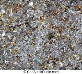 Strass transparent glass jewellery texture