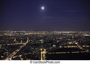 Full moon over paris