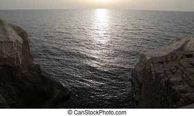 Sea water between two rocks - Shot of Sea water between two...