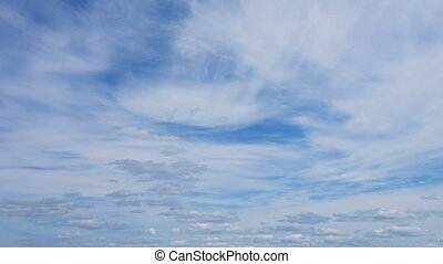 Abstract Timelapse of Puffy Clouds in the Sky - Abstract,...