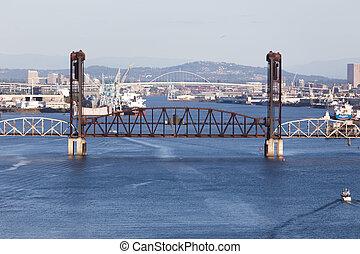 Railroad Bridge Over Willamette River