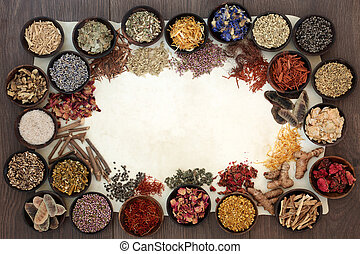 Dried Medicinal Herbs and Flowers