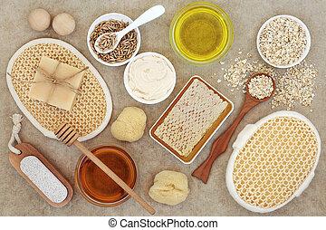 產品, 健康, 自然, 關心, 皮膚
