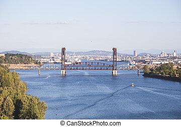 Bridge Over the Columbia River in Portland