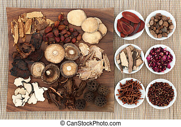 Chinese Medicinal Herbs - Chinese herb selection used in...