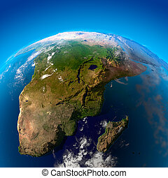 Beautiful Earth - South Africa and Madagascar from space -...