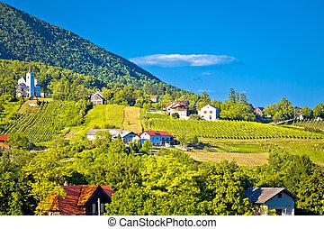 Plesivica village in green nature