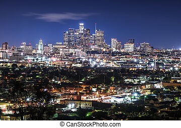 Downtown Cityscape Los Angeles at nigth