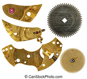 Parts of clockwork mechanism