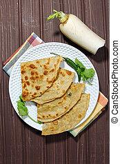 Mooli or Radish Paratha - Healthy Indian Mooli or Radish...