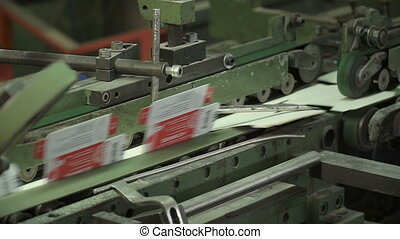 conveyor belt in a printing house