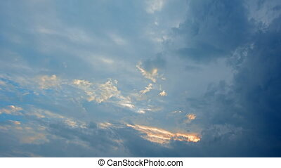 Abstract Timelapse of Heavenly Clouds Drifting in the Sky
