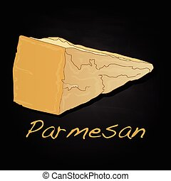 parmesan cheese image isolated artwork - Parmesan cheese...