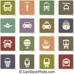 transport icon set - transport vector icons for user...