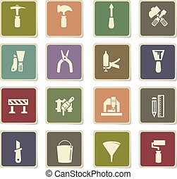 work tools icon set - work tools vector icons for user...