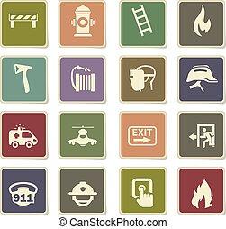 emergency icon set