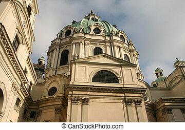 Karlskirche - St. Charles church. Famous Christian landmark...