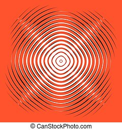 Intersecting concentric circles. Moire, noise effect texture...