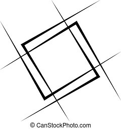 Geometric abstract square element. Intersecting lines...