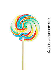 Colourful lollipop isolated on the white background
