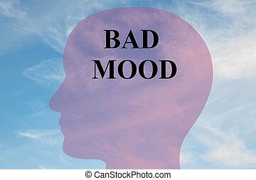 Bad Mood - mental concept - Render illustration of 'BAD...