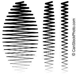 Vertical criss-cross wavy zigzag lines. Set of more...