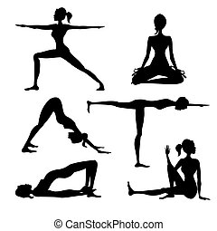 Yoga silhouette isolated